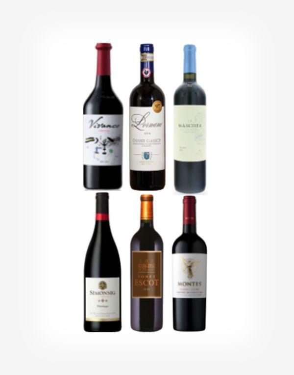 Výber someliera špičkové červené vína 6fl.