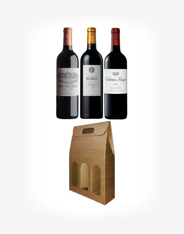 Tradičné Bordeaux v darčekovom balení 3fl.
