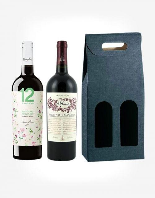 2x talianske Primitivo v darčekovom balení