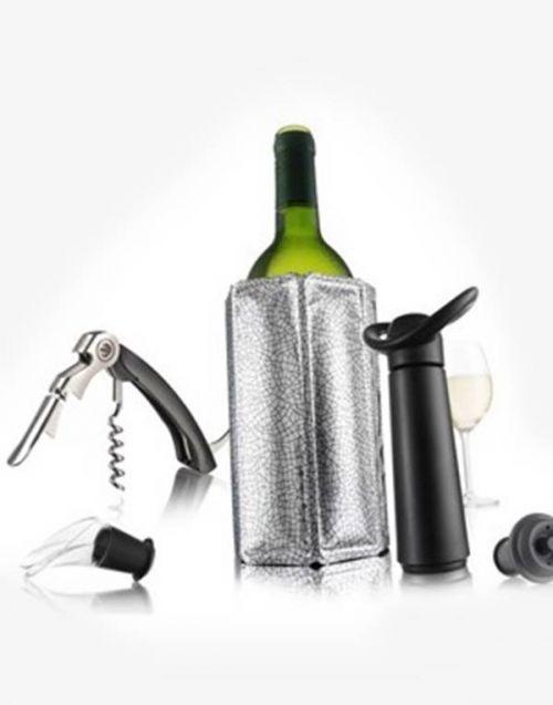 6-dielna vínová súprava s vákuovou pumpou Vacu Vin