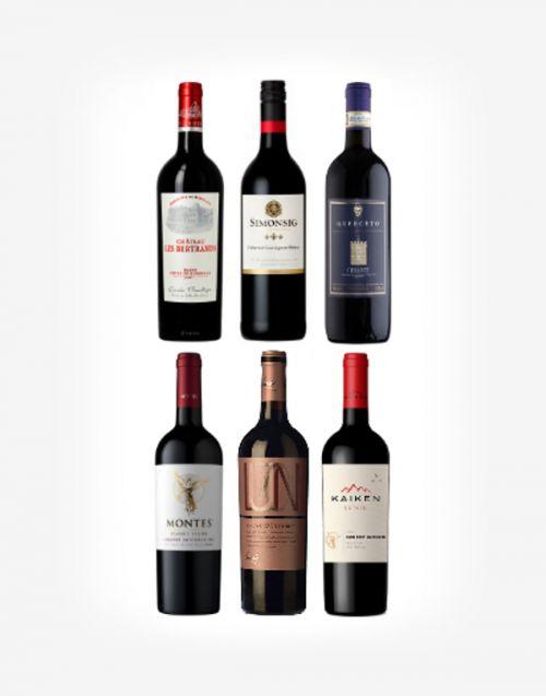 Červené vína - výber someliera 6fl.